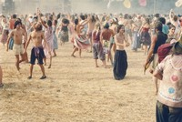 "Deadheads: ""Promoter Bill Graham's favorite photo"" of Deadheads dancing during ""The Wheel"""