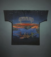 "T-shirts: ""Grateful Dead"" - skeletons overlooking San Francisco and Manhattan, Golden Gate and Brooklyn Bridges. Back: same as front"