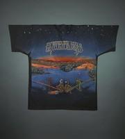 "T-shirts: ""Grateful Dead"" - skeletons overlooking San Francisco and Manhattan, Golden Gate and Brooklyn Bridges. Back: same as front"