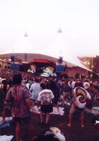 Greatful Dead at Shoreline Amphitheatre, ca. 1990s: distant view of the stage