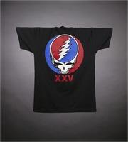 """T-shirt: """"XXV / Still Dead"""" - stealie. Back: """"XXV"""" - stealie"""