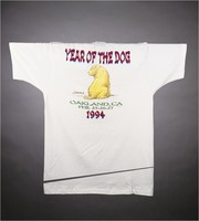 "T-shirt: ""Grateful Dead"" - dragon, Shar-Pei dog. Back: ""Year of the Dog - Oakland, CA - Feb. 25-26-27 1994"" - Shar-Pei"