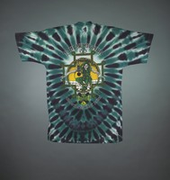 "T-shirt: shamrock stealie. Back: ""Spring Tour - Philadelphia - City of Brotherly Love"" - jester skeleton"