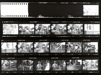 Grateful Dead and Dan Healy, ca. 1980s: contact sheet with 19 images