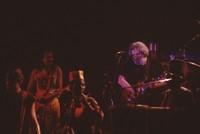 Unidentified drummer, Carlos Santana, unidentified drummer,  Jerry Garcia, and Babatunde Olatunji
