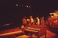 """Grateful Dead So Far"" production: Len Dell'Amico, unidentified crew member, Phil Lesh, and Bob Weir"