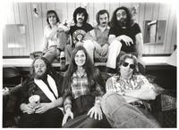 Grateful Dead: (front) Keith Godchaux, Donna Godchaux, Phil Lesh, (back) Bob Weir, Mickey Hart, Bill Kreutzmann, Jerry Garcia