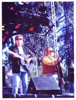 Bill Graham Memorial (Laughter, Love and Music): reverse image of Graham Nash and David Crosby