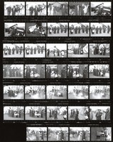 "Grateful Dead: ""Throwing Stones"" video shoot: contact sheet III of 34 images"