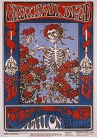 Grateful Dead, Oxford Circle - Avalon Ballroom - September 16-17, [1966]: slide reproduction (by John Werner) of the poster by Stanley Mouse