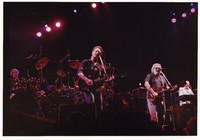Grateful Dead: Bill Kreutzmann, Bob Weir, Jerry Garcia, and Vince Welnick