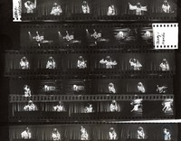 Maria Muldaur, Jerry Garcia, and Martin Fierro, ca. 1970s: contact sheet with 35 images