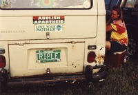 "Deadhead vehicle with ""RIPLE"" Vermont license plate, ca. 1990"