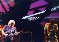 Jerry Garcia and unidentified saxophonist