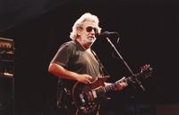 Jerry Garcia, with his guitar, Rosebud, ca. 1990