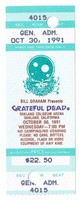Bill Graham Presents Grateful Dead - Oakland Coliseum Arena - October 30, 1991