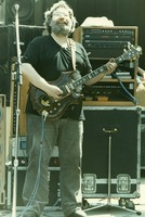"Jerry Garcia, with his guitar, ""Tiger"""