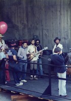 "Grateful Dead at ""A Day on the Green #8"": Bill Graham, Bob Weir, Jerry Garcia and John Barlow"