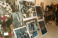 Photo display at Johnnie Johnson memorial