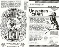 Unbroken Chain, Volume 1, No. 1 - February 1986