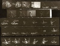 Grateful Dead: contact sheet with 28 images, mostly Jerry Garcia and Bob Weir