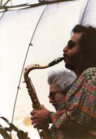 Jerry Garcia and Steve Berlin (from Los Lobos)