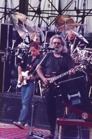 Grateful Dead: Bob Weir and Jerry Garcia, with Bill Kreutzmann in the background