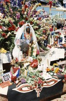 Memorial for Jerry Garcia: altar collection items