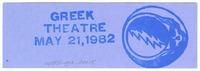Bill Graham Presents at the Greek Theatre - May 21, 1982