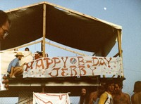 "Grateful Dead, Manor Downs: ""Happy B-day Jerry"" banner"