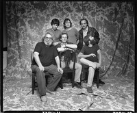 Grateful Dead: (front) Jerry Garcia, Phil Lesh, Brent Mydland, (back) Mickey Hart, Bob Weir, Bill Kreutzmann