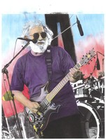 Jerry Garcia: hand-colored image