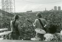 Grateful Dead: Bob Weir, Phil Lesh, and Bill Kreutzmann, from the back