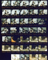 Grateful Dead, Bob Dylan and Tony Garnier at Franklin County Field: contact sheet with 34 images