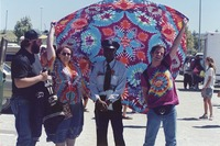Deadheads with a crowd control officer