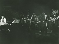 Jerry Garcia Band: Keith Godchaux, Maria Muldaur, Donna Godchaux, Bill Kreutzmann, John Kahn, Jerry Garcia, with Buzz Buchanan on the drums