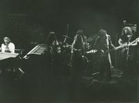 Jerry Garcia Band: Keith Godchaux, Maria Muldaur, Donna Godchaux, Bill Kreutzmann, John Kahn, Jerry Garcia, with Buzz Buchanan on the drums