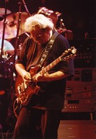 "Jerry Garcia, with his guitar, ""Rosebud"""