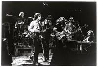 Grateful Dead in Egypt: Bill Kreutzmann, Bob Weir, Donna Godchaux, Jerry Garcia, Phil Lesh, Keith Godchaux, with Mickey Hart in the background