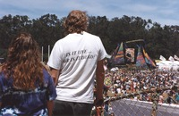 Memorial for Jerry Garcia: distant view of the altar