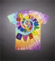 "T-shirt: Bears spiral dance. Back: ""25 Years Dead 1965-1990 /Grateful Dead Comin' Around"""