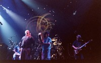 "Ken Nordine, with Bill Kreutzmann, Mickey Hart, and Jerry Garcia, reciting either ""Flibberty Jib"" or ""The Island"" during ""Drumz"""