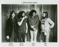 Jerry Garcia Band, ca. 1975: Nicky Hopkins, Jerry Garcia, John Kahn, and Ron Tutt