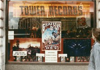 Grateful Dead in London: advertisement in the London Tower Records store window