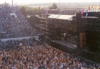 Sam Boyd Silver Bowl, ca. 1990s: distant view of the stage