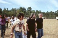 Grateful Dead: Mickey Hart, Jerry Garcia, and Bill Kreutzmann, with unidentified others