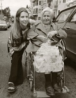 Jerilyn Lee Brandelius with Ethel Tessel, Mickey Hart's grandmother, at the first Haight-Ashbury Street Fair