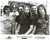 Grateful Dead publicity photo: Mickey Hart, Phil Lesh, Jerry Garcia, Brent Mydland, Bill Kreutzmann, Bob Weir