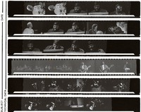 Merl Saunders and other unidentified musicians, ca. 1970s: contact sheet with 29 images