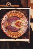 "Grateful Dead merchandise: reproduction of the ""Rolling Thunder"" album cover by Kelley/Mouse Studios, that was part of a display at an unknown location"
